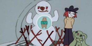 A Kockásfülű Nyúl – Menyus és a Hóember mese online